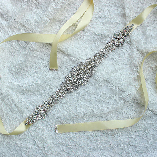 Ribbon Sash Belt for Wedding Dress