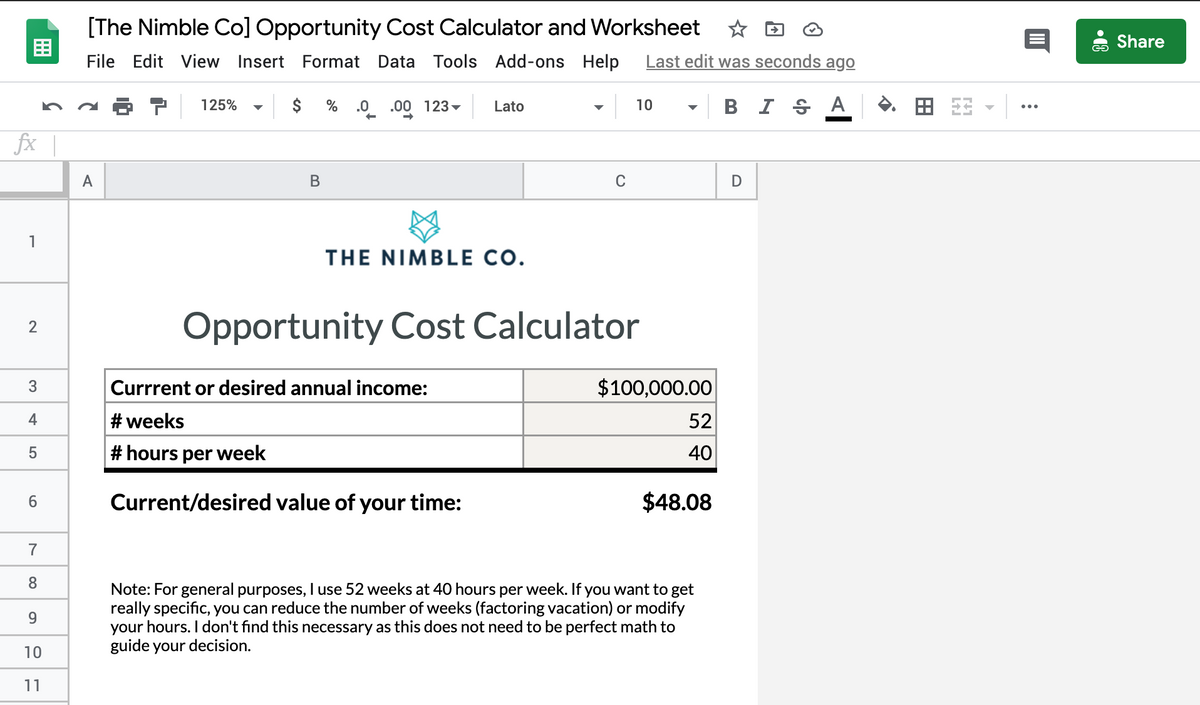 Opportunity Cost Calculator