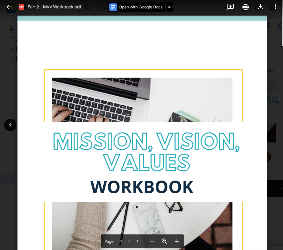 Mission, Vision, Values Workbook