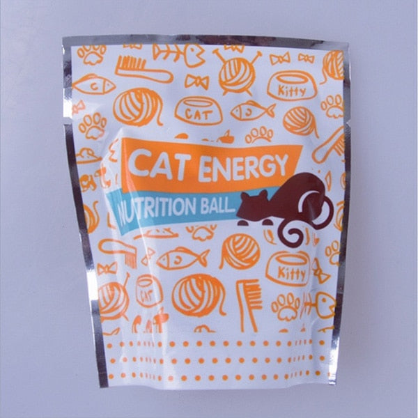 Cat Treating Energy Licking Sugar Ball