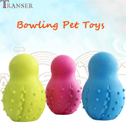 Rubber Bowling Shape Dog Teeth Clean Toy