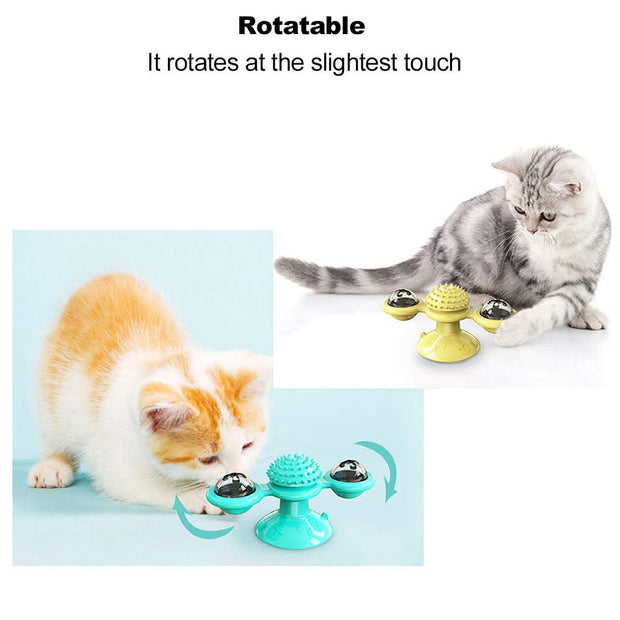 Turntable Windmill Cat Toy