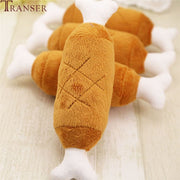 Soft Fleece Chicken Leg  Squeak Sound Dog Toys