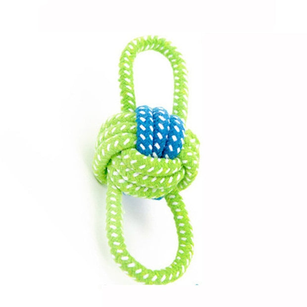 Fun Playing Green Rope Ball Toy