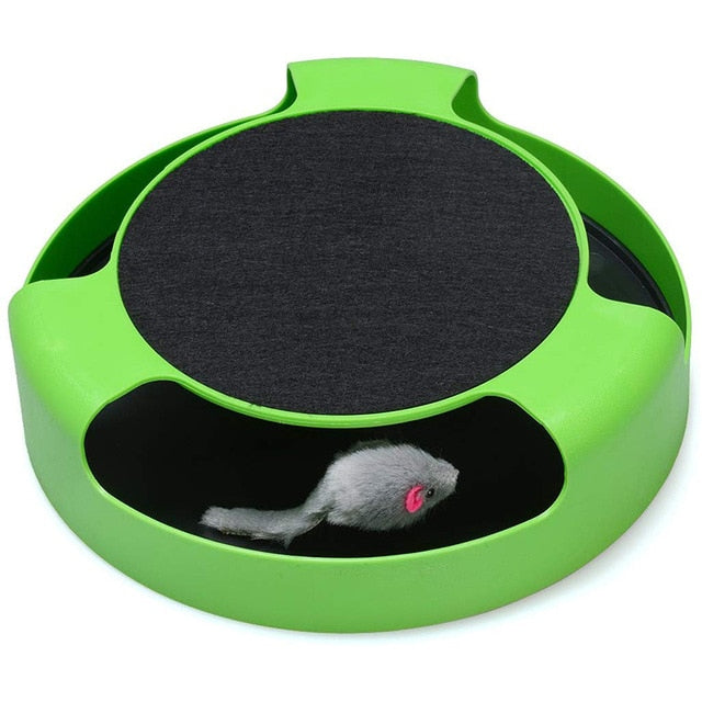 2 In1 Cat Toys Interactive With Running Mice