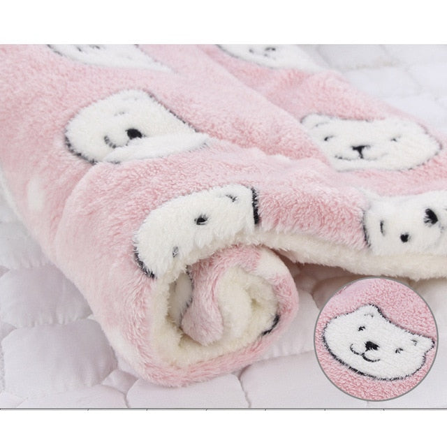 HEYPET Pet Blanket Dog Bed Cat Mat Soft Coral Fleece Winter Thicken Warm  Sleeping Beds for Small Medium Dogs Cats Pet Supplies