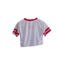Crop Top Jersey (Weiss / Rose)