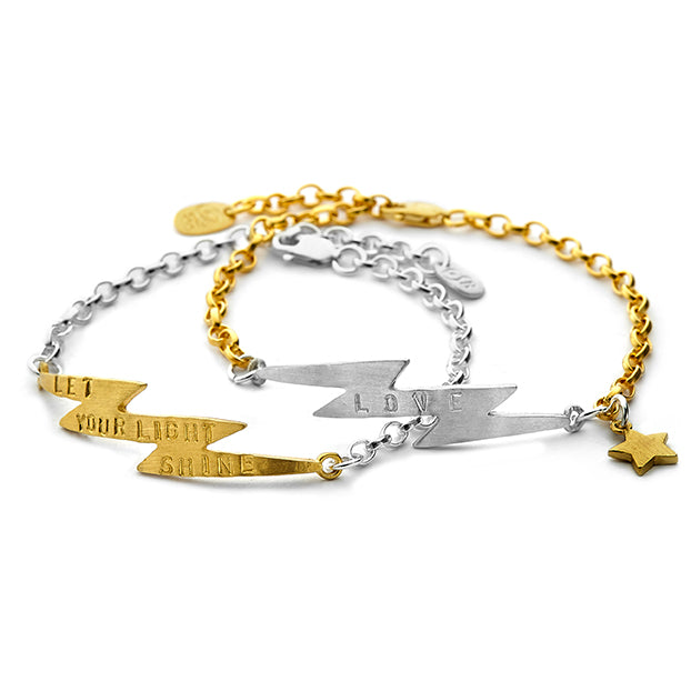 Chambers and Beau - Electric Braclet - Gold Bolt