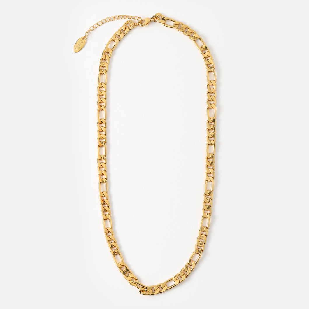 Orelia - Flat Larger Link Chain Necklace 15