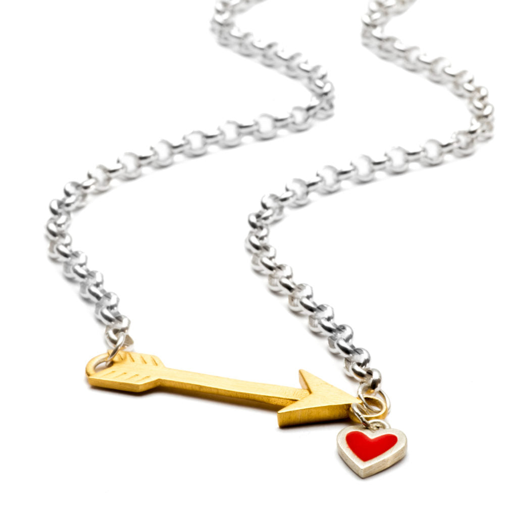 Chambers and Beau - My Path Chocker Necklace - Red heart