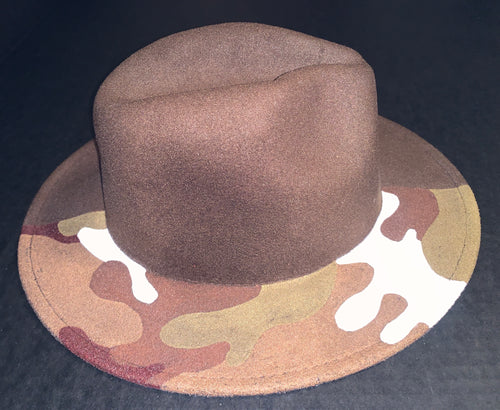 Brown Camo Fedora