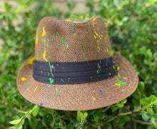 "Load image into Gallery viewer, ""Green Apple"" straw fedora"