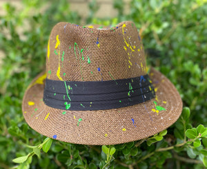 """Green Apple"" straw fedora"