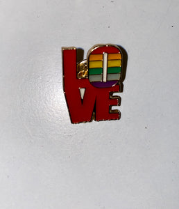 """LOVE"" Pride Pin"