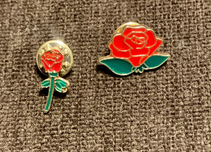 Red Rose Pin