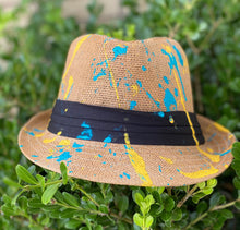 "Load image into Gallery viewer, ""Tealin' on the Beach"" fedora"