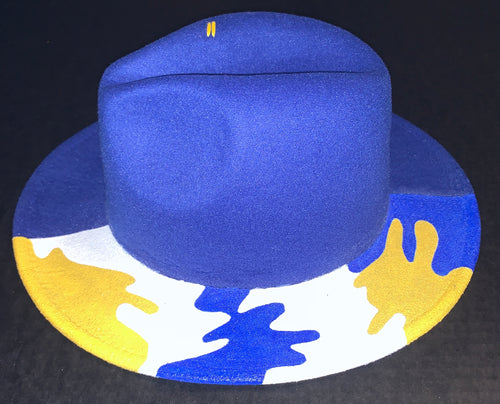 Royal Blue Camo Fedora