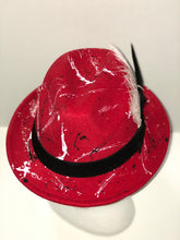 "Load image into Gallery viewer, The ""Red Flash"" fedora"