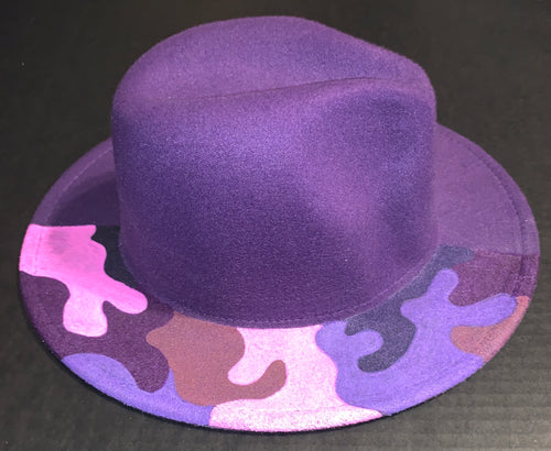 Purple Camo Fedora