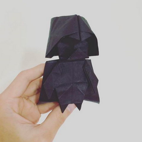 How To Make An Origami Darth Vader Star Wars