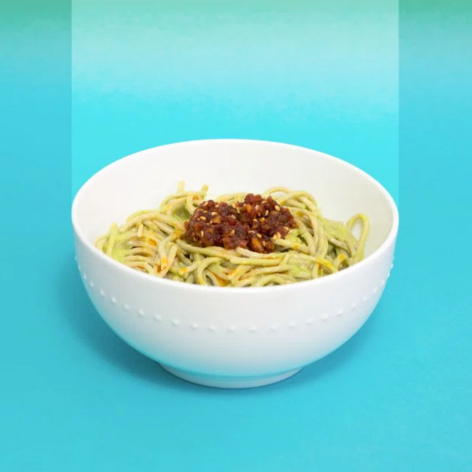 OKAZU Soba Noodles with Miso Avocado Sauce
