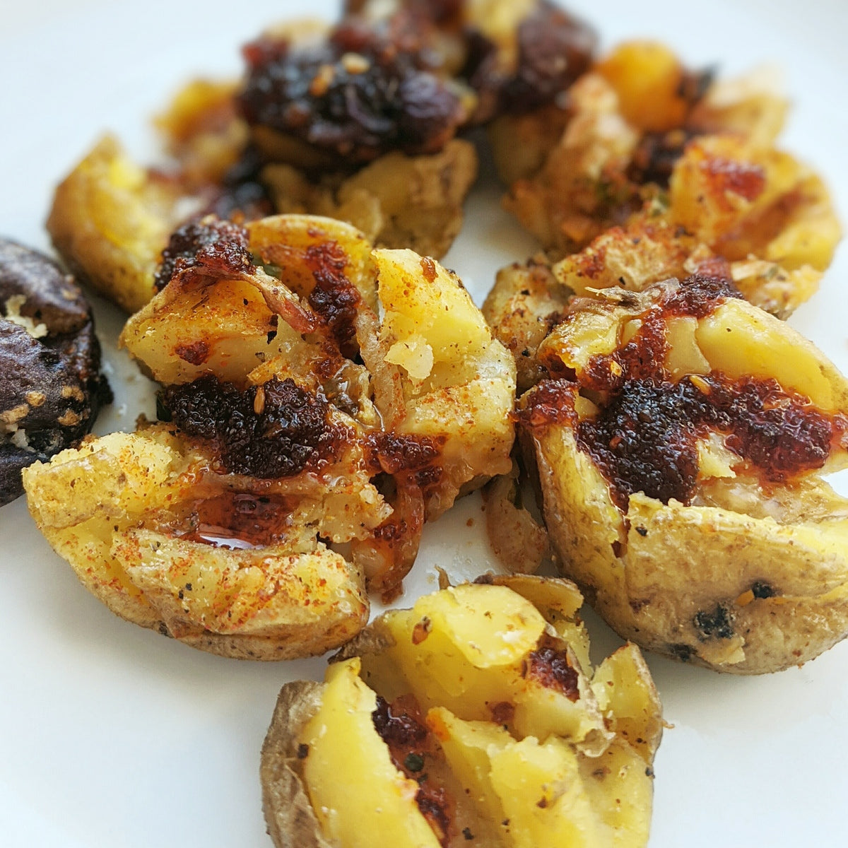 Easy Smashed Potatoes with OKAZU