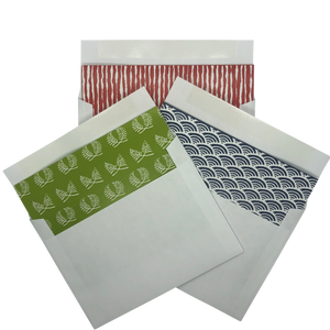 GREETING CARDS with Japanese Patterns (12 cards & envelopes)