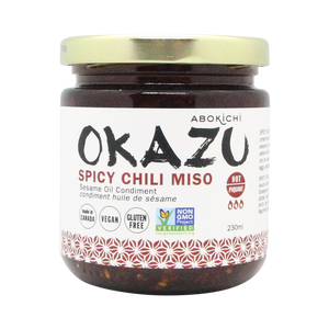 Bulk OKAZU Spicy Chili miso 230ml (12 jars/CASE)