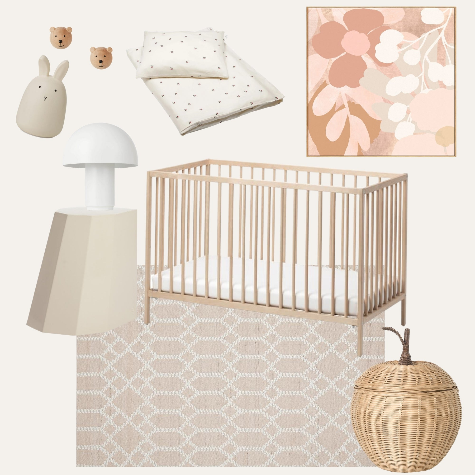 Baby Girls Nursery Moodboard | Timeless Beauty
