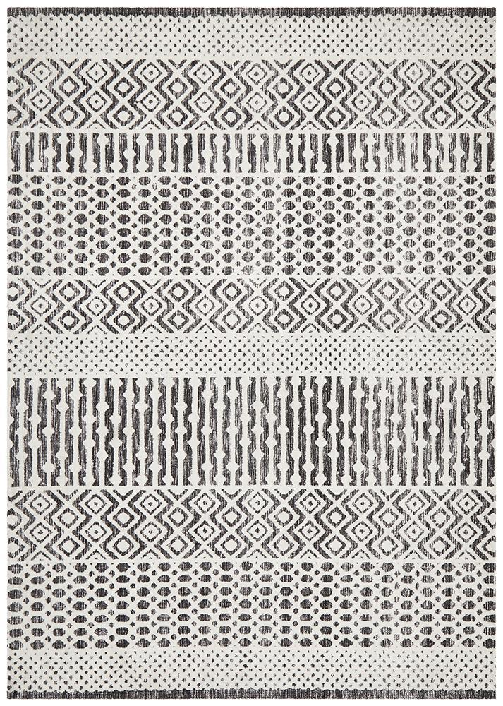 June Rug | Adelaide Ivory Black