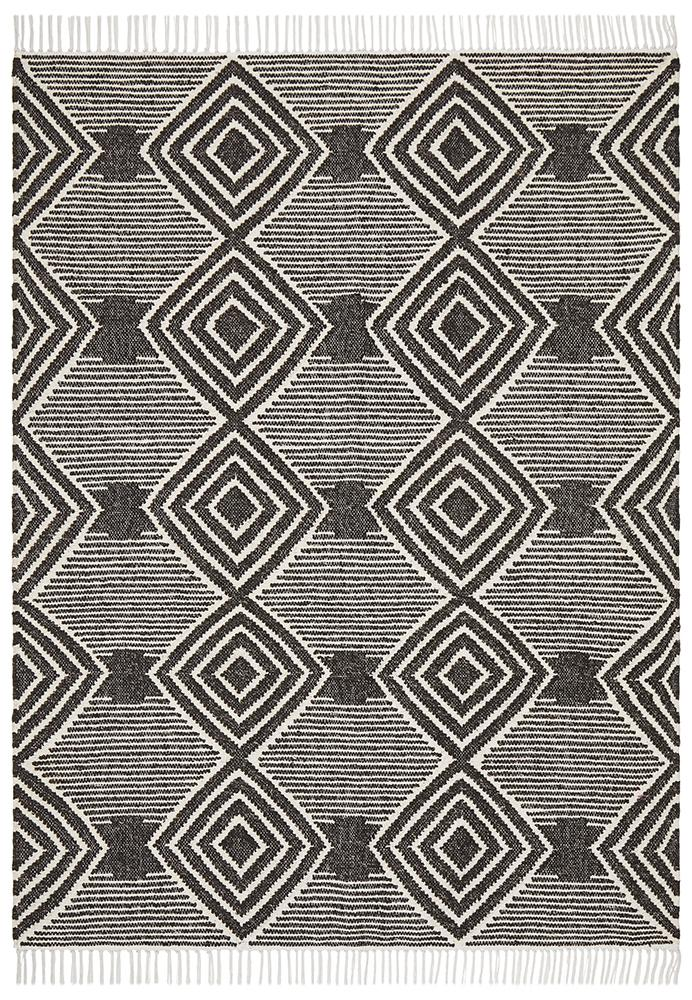 Kobe Rug | Charcoal Diamonds