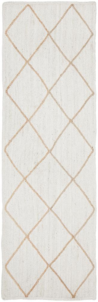 Arlo Rug | White Diamonds Runner