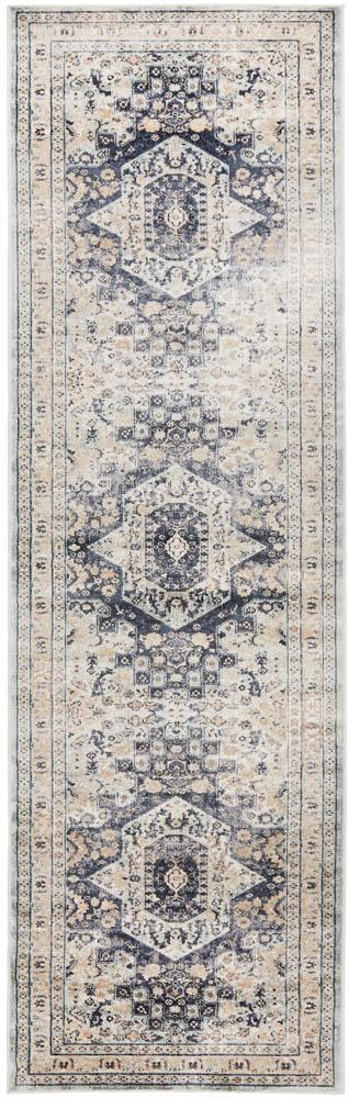 Bella Rug | Traditional Blue Beige Runner