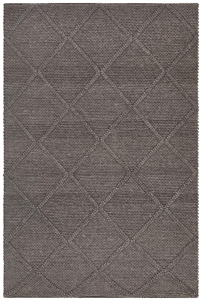 Budapest Rug | Brown Diamonds
