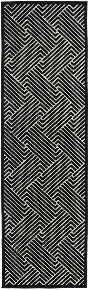Harper Rug | Cindy Black & Gold Runner