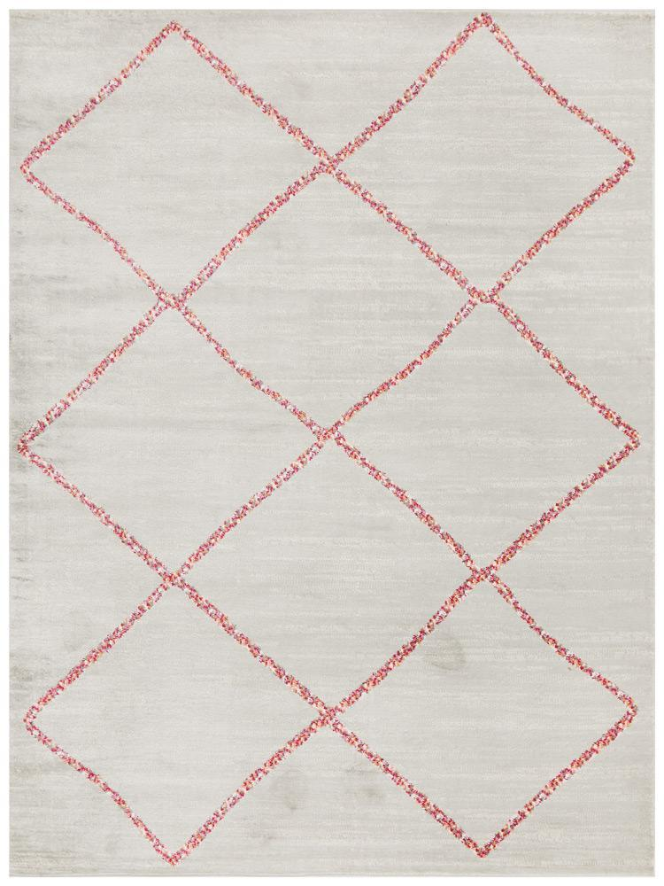Atlas Rug | Pink Diamonds