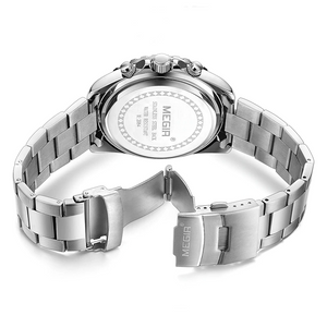 Megir Business Analog Watch 2064- Silver