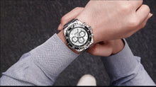 Load image into Gallery viewer, Megir Business Analog Watch 2064- Silver