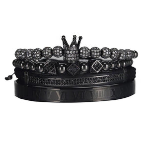 Royal Crown Bracelet-Black