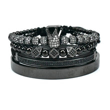 Load image into Gallery viewer, Royal Crown Bracelet-Black