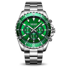 Load image into Gallery viewer, Megir Business Analog Watch 2064- Silver Green