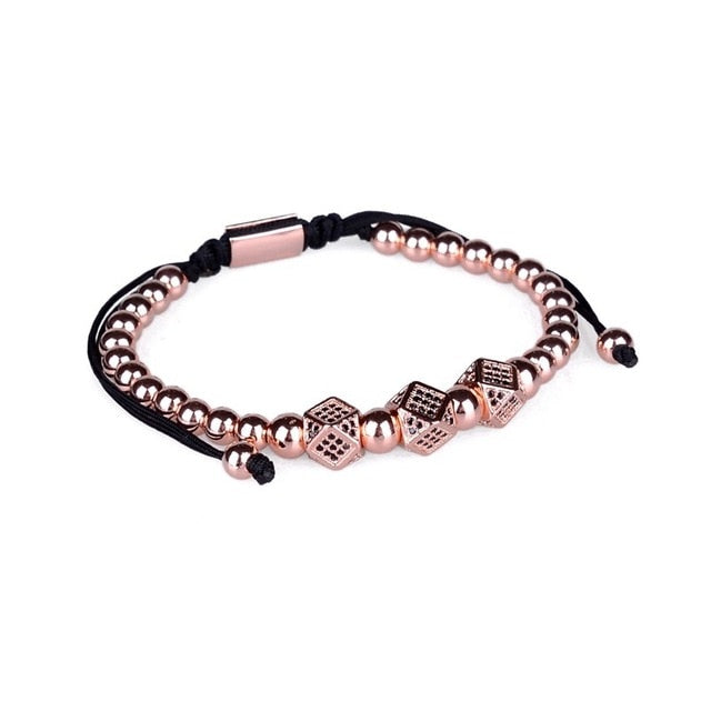 Rose Gold Dice Bracelet