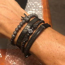 Load image into Gallery viewer, Black Dice Bracelet
