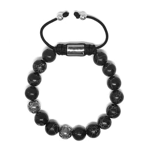 New Arrivals IRBACOO  Men Bracelet Stainless Steel Ornament Turquoise Beads Handmade Jewelry For Male