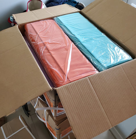 Photo of the first shipment the shop received from Northcott