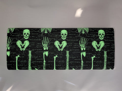 Skeleton print glowing in the dark