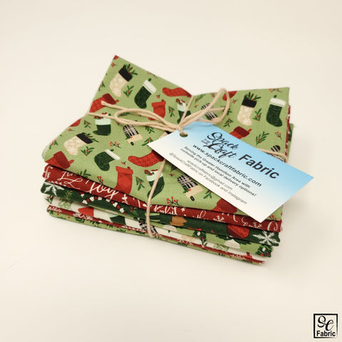 Hand cut fat quarter bundle in Riley Blake's Christmas Traditions collection