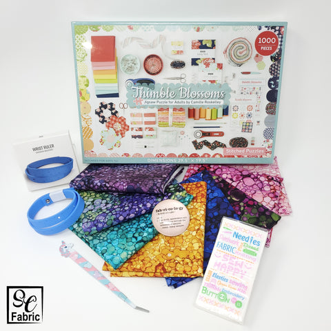 Photo showing samples of gifts with purchase including the puzzle for the Grand Prize draw