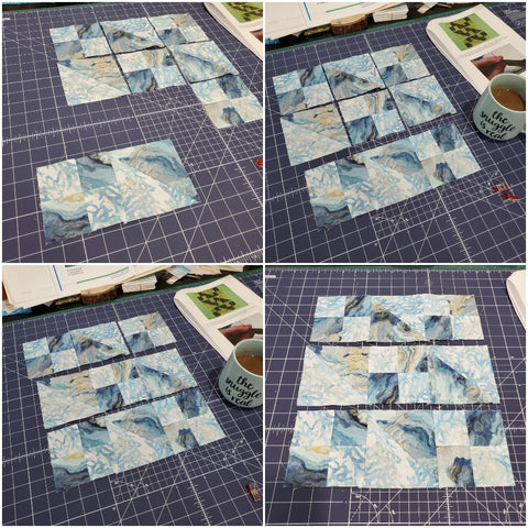 Rows sewn together