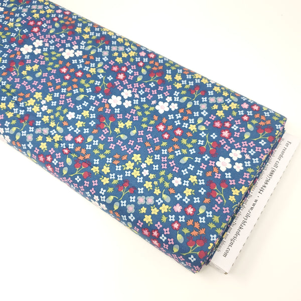 Bloom and Grow - Navy Floral - C10112-NAVY (1/2 Yard)